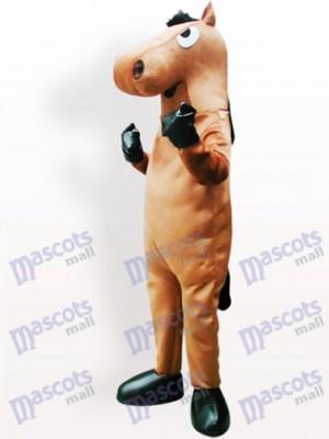 Cheval brun Costume de mascotte adulte
