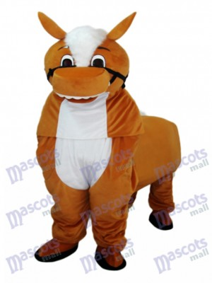Petit Costume de mascotte de cheval marron Animal