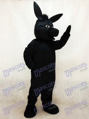 Noir Donald Âne Costume de mascotte Animal