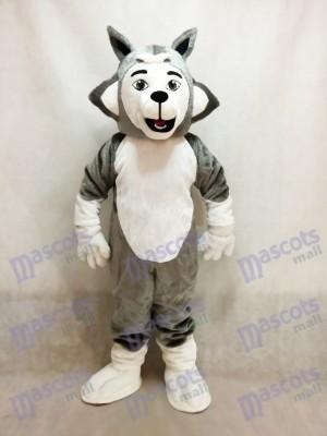 Déguisement de mascotte pour chien Herman Husky grise