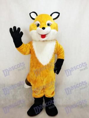 Nouveau Costume de Mascotte Renard Jaune avec Coffre Blanc
