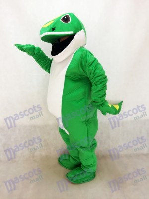 Costume de mascotte verte de gecko