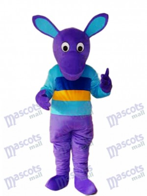 Costume de mascotte kangourou pourpre Animal