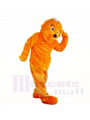 Orange Fille Drôle Lion Costumes De Mascotte Dessin animé