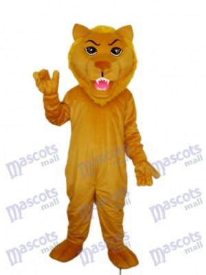Costume adulte mascotte lion marron vieux