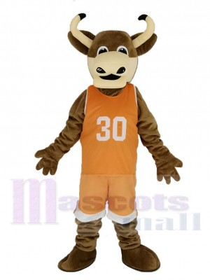Texas Longhorns Taureau dans Orange Vêtements de sport Mascotte Costume Animal
