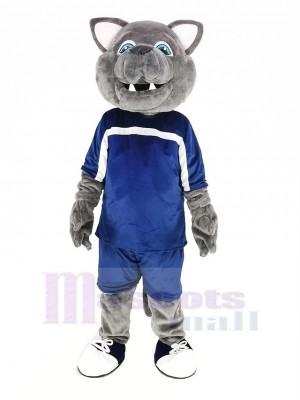 gris Loup dans sport Costume Mascotte Costume Animal