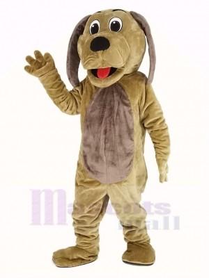 Chien avec marron Ventre Mascotte Costume