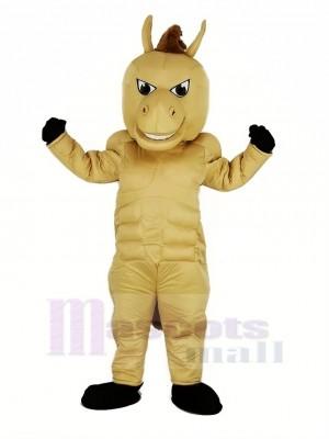 Lumière marron Puissance Cheval Mascotte Costume Animal