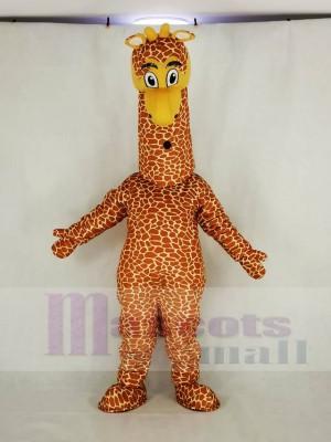 Réaliste Girafe Mascotte Costume Dessin animé