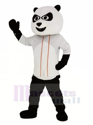 Base-ball Panda avec blanc T-shirt Mascotte Costume Animal