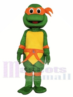 Tortue Ninja Adolescente Costume de mascotte Orange Michelangelo