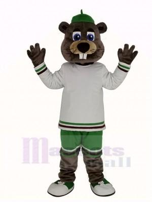 sport Castor avec Gros Nez Mascotte Costume