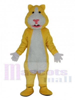 Jaune et blanc Hamster Mascotte Costume