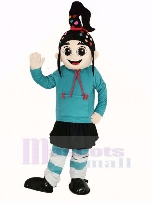 Fille Vanellope Mascotte Costume Dessin animé