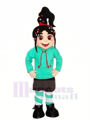 Mignonne Fille Vanellope Mascotte Les costumes Dessin animé