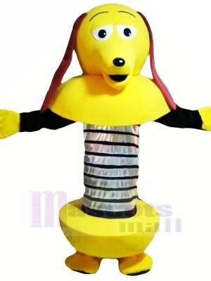 Jaune Dessin animé Robot Chien Mascotte Les costumes Dessin animé
