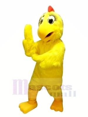 Jaune poulet Poule Mascotte Les costumes Dessin animé