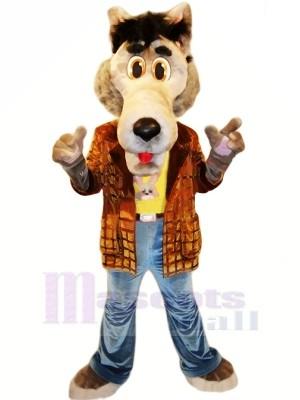 Cool Loup avec Veste Mascotte Déguisements Dessin animé