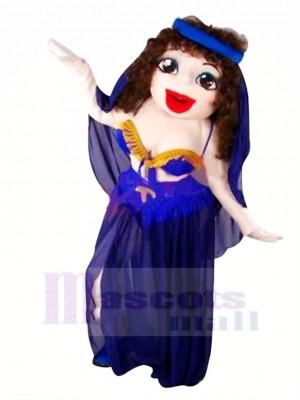 Dansant Beauté avec Gros Yeux Mascotte Costume Gens