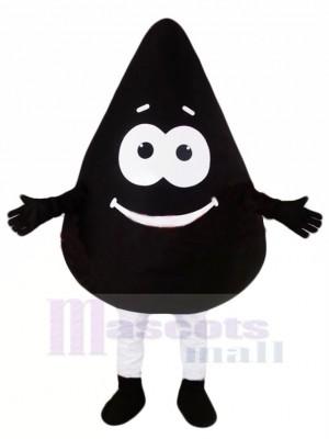 Mignonne Noir Pétrole Mascotte Costume Dessin animé