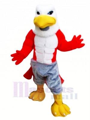 Amical Muscle faucon Mascotte Costume Dessin animé