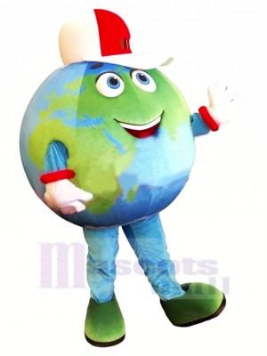 Haute Qualité Terre Mascotte Costume Dessin animé