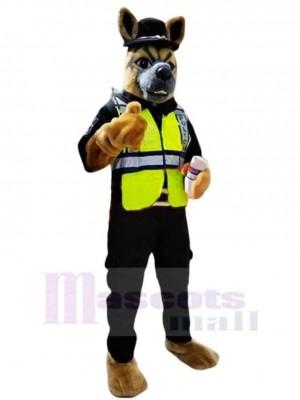 Haut Qualité Police Chien Mascotte Costume Dessin animé