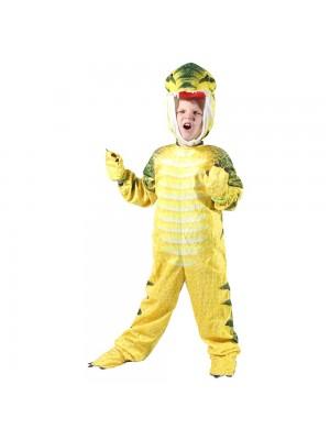 Jaune T-Rex Dinosaure Costume Dinosaure Combinaison Halloween Noël Robe en haut Cadeau pour Enfant