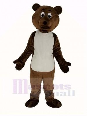 Foncé marron Ours Mascotte Costume Animal