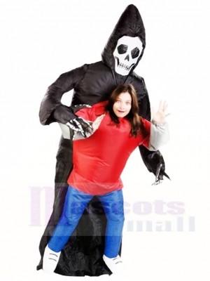 Sinistre moissonneuse Le crâne Squelette Fantôme Gonflable Halloween Les costumes pour Adultes