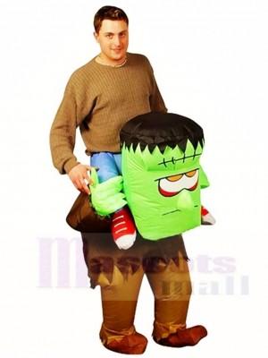 Frankenstein Porter moi Balade sur Monstre Gonflable Halloween Noël Les costumes pour Adultes