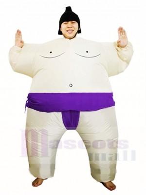Violet Japonais Graisse Homme Sumo Gonflable Halloween Noël Les costumes pour Adultes