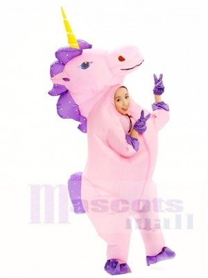 Rose Licorne Gonflable Halloween Noël Les costumes pour Des gamins