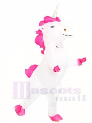 blanc Licorne Gonflable Halloween Noël Les costumes pour Adultes