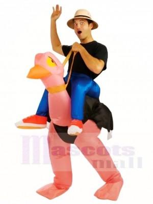 Porter moi Balade Sur Autruche Gonflable Halloween Noël Les costumes pour Adultes