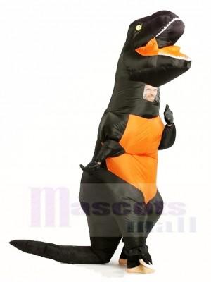 Noir T-REX Dinosaure Gonflable Halloween Noël Les costumes pour Adultes