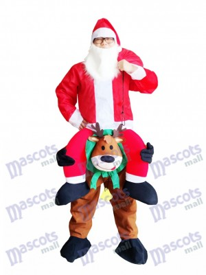 Renne Carry Me Costume mascotte renne Carry Santa Claus Père Noël Déguisement