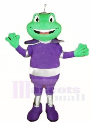 La grenouille dans Violet Costume Mascotte Les costumes Animal