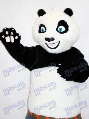 Yeux bleu Kungfu Karaté mascotte drôle de costume