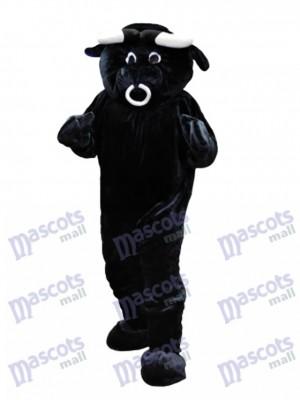 Taureau noir Costume drôle de mascotte