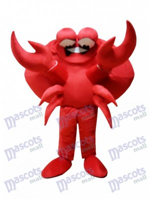 rouge Crabe Costume de mascotte
