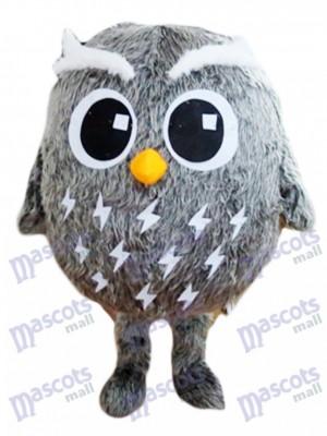 Costume de mascotte hibou gris Oiseau Animal