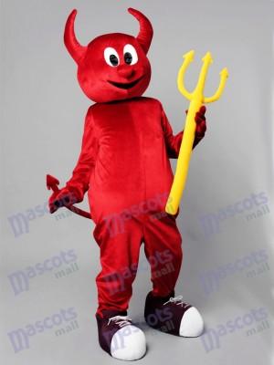 Costume de mascotte de diable maléfique de Halloween rouge Cartoon Anime