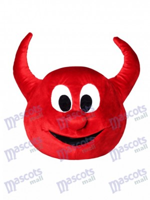 Halloween Red Evil Devil Mascot HEAD ONLY
