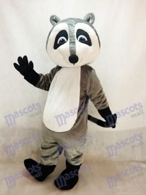 Costume de mascotte raton laveur gris