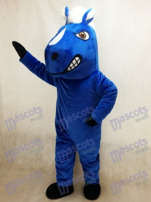 Costume de mascotte de cheval royal bleu Mustang