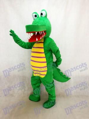 Costume de mascotte de crocodile vert Cartoon Animal