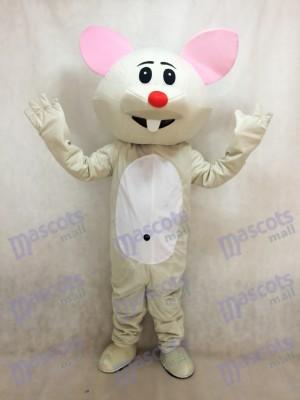 Souris grise avec costume de mascotte nez rouge Animal
