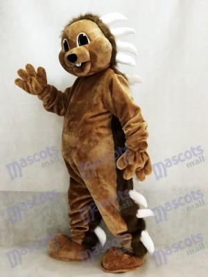 marron Costume de mascotte de porc-épic Animal
